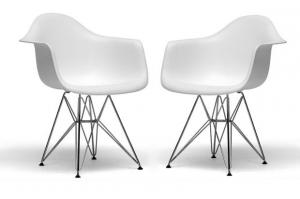 ... Quality DC311G White Plastic Mid Century Modern Shell Chair With Chorm  Leg For Sale ...