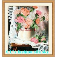 China 2017 new style,silk embroidery,Needlework,DIY DMC Cross stitch,Sets For Embroidery kits,fl on sale