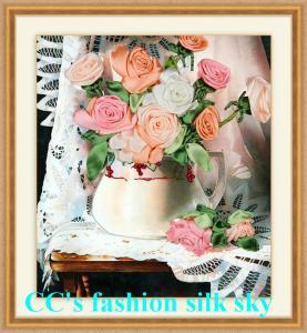 China 、絹の刺繍新式の、2017刺繍、DIY DMCの十字のステッチは刺繍のキット、flのために、置きます on sale