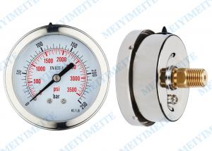 China Movement Liquid pressure gauge 63mm back with bayonet bezek and brass internals on sale