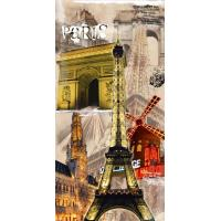 Moisture Proof B118 Paris Building Wooden Battery Lighted Wall Art for Wall Decoration