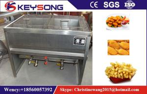 China Manual Discharge Water Oil Mix Deep Fryer Machine Small Scale on sale