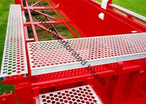China Aluminum Safety Grip Strut Grating Walkways , Crocodile Mouth Anti Slip Metal Plate on sale