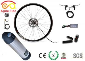 China Brushless Electric Wheel Motor Kit For Mountain Bike 36V 350W Bottle Type Battery on sale