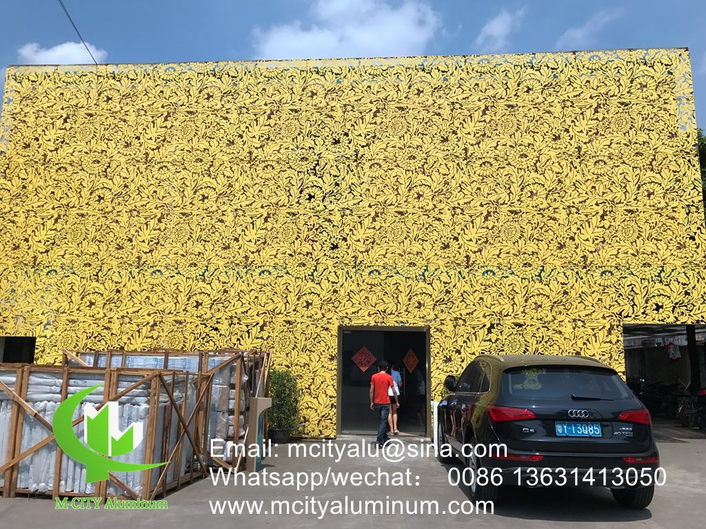 curtain wall panel supplier powder coated Aluminum CNC perforated ...