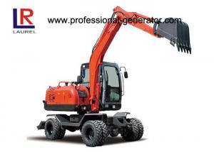 China Mini Digging Machine Vibrating Plate Compactor Long Reach 6.2 Tons For Farm on sale