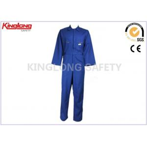 China 100% Cotton Navy Blue Fire Resistant Workwear Factory Worker Clothing on sale