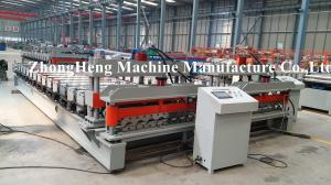 China Hydraulic Cutter Roof Glazed Tile Roll Forming Machine Wave Type 220V 50HZ on sale