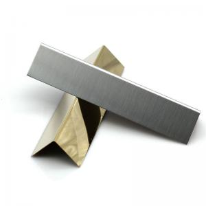 China SS 201 304 stainless steel straight edge trim for protecting wall and decorative tile trim on sale