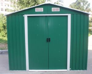 China Green Apex Metal Garden Shed / Tools Storage Sheds With Color Steel Sheet on sale