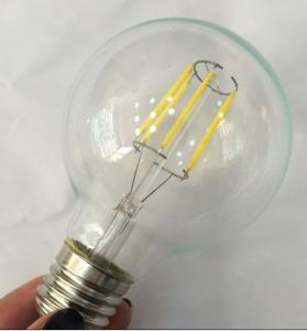 China G80 LED Filament Edison Glass Bulbs light Dimmable E14/E26/E27/B22,4W/6W/8W,110v/220v on sale