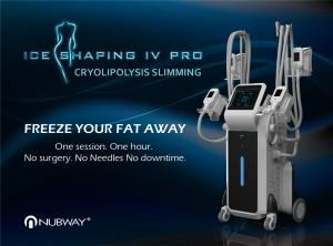 China Cryolipolysis Cool Shaping Machine 4 Handles Body Shaper / 4 Handles Can Work At The Same Time on sale