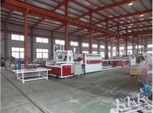 China Conical Twin Screw Wood Plastic Composite Machine / PVC Foam Board Extrusion Line on sale