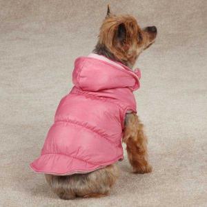 China Zack & Zoey Snow Lodge Dog Vest Pink / Custom Dog Hoodies for winter apparel on sale