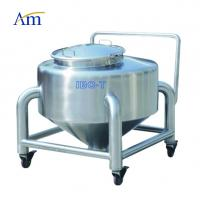 China Pharma Industry Round Stainless Steel Storage Bins , Stainless Steel IBC Containers on sale