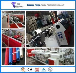 China Plastic PVC Conduit Machine Pipe Conical Twin Screw Extruder on sale