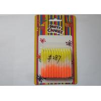 Rainbow Color Column Shaped Birthday Candles 24Pcs For Birthday Party Decoration