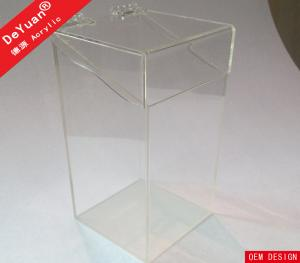 China Plexiglass Crystal Acrylic Desk Makeup Brush Holder Top Lids Recycle on sale