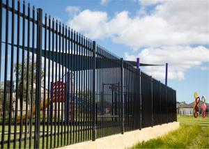 Interpon Powder Coating Black Garrison Metal Security Fence Panels 2