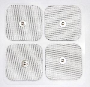 China White Cloth Reusable TENS Pads , Self-adhesive Electrode Pads with USA Tyco on sale