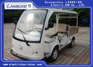 China White Color 4 Passenger Electric Golf Carts / Electric Cargo Vehicle on sale