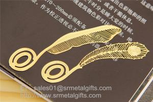 China Personalized Photo Etching Process Metal Bookmarks in Bulk, MOQ100pcs on sale