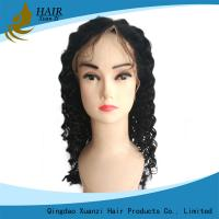 China Soft Silky Full Lace Human Hair Wigs Kinky Curly With Natural Baby Hair on sale