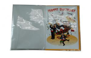 China Happy Birthday 35s Voice Paper Folding Greeting Cards With Glossy Lamination? on sale