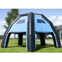 Adverstisment Inflatable Event Tent Commercial Black Blue Waterproof 6.8 X 6.8 X 4.8M