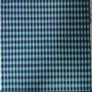 China 110GSM Blue Cotton Check Fabric Chlorine Bleaching Resistant No Extreme Smell on sale