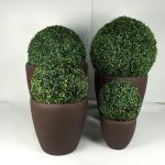 2019 hot selling high quality large fiber clay round planter pots for garden decoration