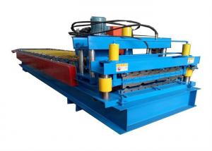 China High Power Color Steel Roll Forming Machine Metal Roofing Machine With Hydraulic Cutting Device on sale
