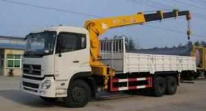 China White Special Purpose Trucks DFD1250A9 Truck Mounted Crane With Cummins C245 Engine on sale