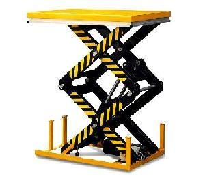 China Portable Hydraulic Scissor lift / adjustable AC / DC High-duty steel electrical lifting platform equipment on sale