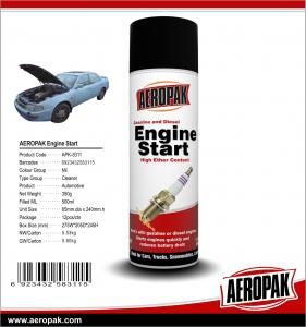 China AEROPAK 500ML aerosol spray can gasoline and diesel Engine Starter on sale