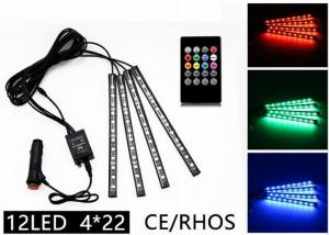 China Rhythm Remote Control LED Strip Lights Multicolor 12 LED CE ROHS Approved on sale