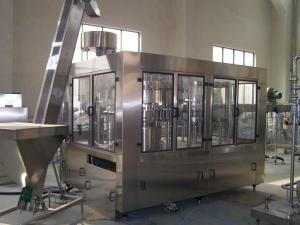 China Automatic Glass Bottle Carbonated Water Filling Machine / Edible Glass Bottling Plant Price on sale