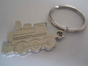 China Metal train design key holder, China manufacturer for customized metal keyrings, MOQ300pcs on sale