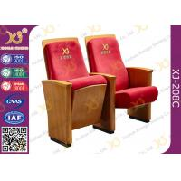High-end Red Fabric Auditorium Chairs With Folded Writing Tablet
