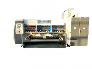 China Three Color Printing Die Cutting Machine Automatic Leader Edger Feeder on sale