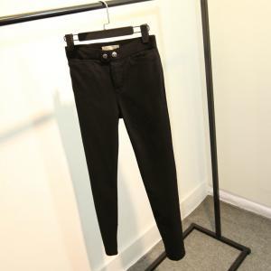 China Button Closure Black Womens Jogging Bottoms , Plus Size Ladies Jogging Pants on sale