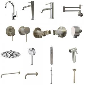 China 304 stainless steel high quality washing basin mixer taps  series on sale