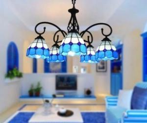 China European Retro shade adjusted up or down Tiffany Pendant lights Lamps baroque Chandelier on sale