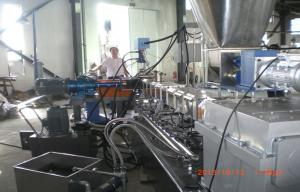 China 220v Plastic Granules Making Machine With Parallel Twin Screw Extruder on sale