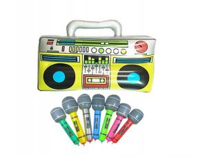 China Colorful 16 Inflatable Kids Toys Microphones Speaker & Musical Instruments on sale