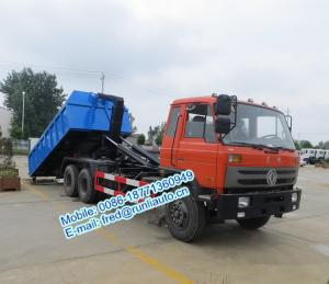 China Q23B high strength hook arms Dongfeng 6x4 18~25 ton cheap price of hooklift garbage truck for sale on sale