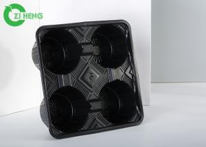 China Hot Drink Plastic Cup Holder Tray, Hard Strong Coffee Tray Holder Eco Friendly on sale