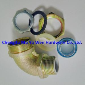 China High quality 90d elbow liquid tight malleable iron and steel connectors with zinc plated from 3/8 to 2 on sale