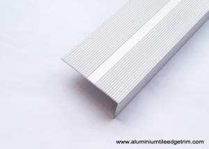 China Non Skid Straight Metal Stair Nosing , Wide Edging Stair Step Nosing  on sale