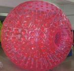 赤い単一色の子供のための膨脹可能な Zorb の球